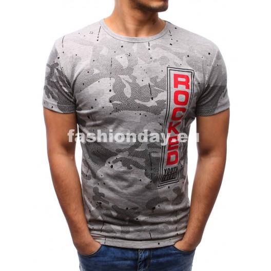 Pánske tričká v sivej farbe s potlačou
