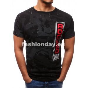 Tričko s nápisom v čiernej farbe