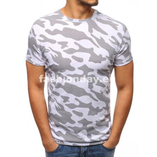 Mužské tričká v sivo bielej farbe
