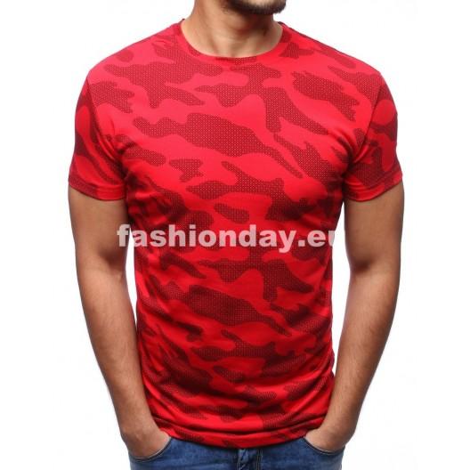 Moderné pánske tričká v červenej farbe