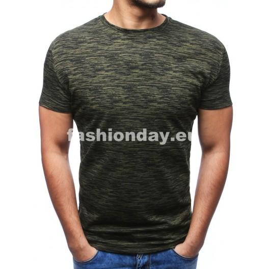 Štýlové tričko v tmavo sivej farbe