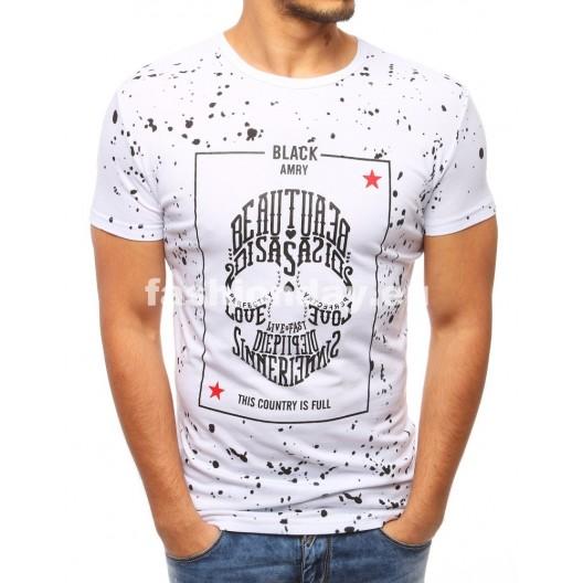 Tričko s nápisom v bielej farbe