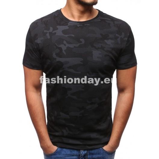 Moderné tričká pánske v čiernej farbe