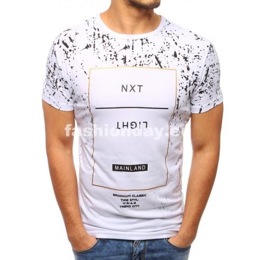 Športové tričká pre pánov v bielej farbe