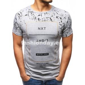 Moderné tričká s nápisom v sivej farbe