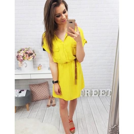 Žlté šaty na leto