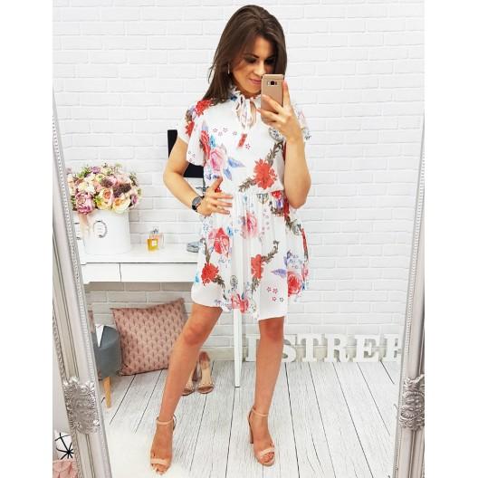 Dievčenské šaty s kvetinovým vzorom