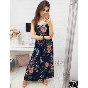 Dlhé šaty na leto s kvetmi