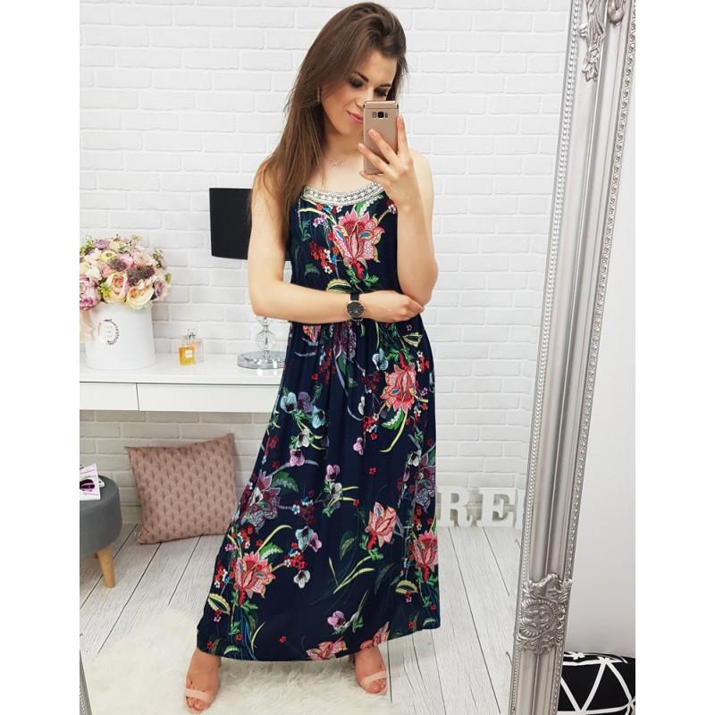 f68821793903 Predchádzajúci. Dlhé šaty na leto s kvetmi ...