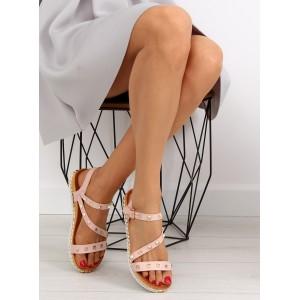 Dámske sandále ružovej farby s vybíjaním