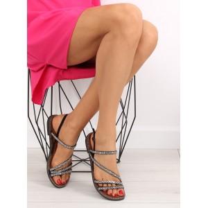 Sandále k spoločenským šatám na nízkom podpätku