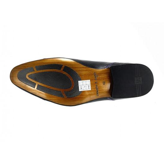 Pánske kožené spoločenské topánky čierne ID: 560