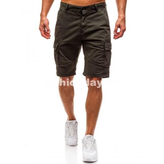 Krátke nohavice pre pánov v zelenej farbe