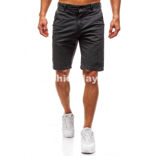 Krátke pánske nohavice sivej farby