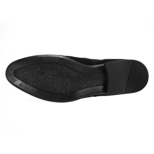 Pánske kožené spoločenské topánky čierne ID: 563