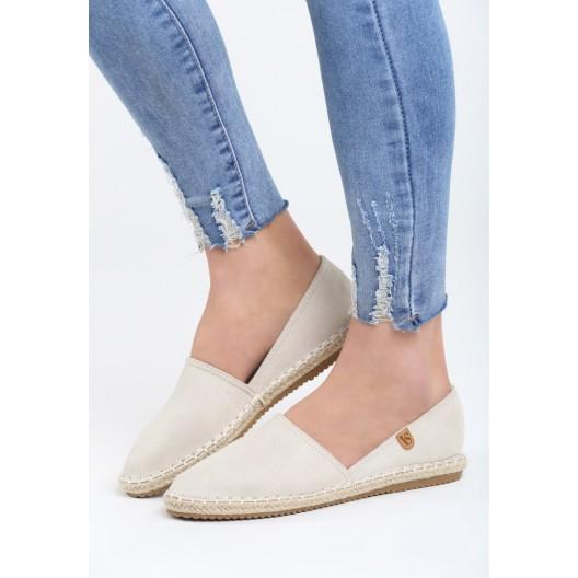 Letná dámska obuv béžovej farby