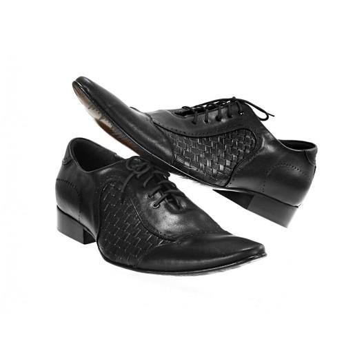 Pánske kožené spoločenské topánky čierne ID: 569