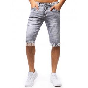 Štýlové kraťasy v sivej farbe pre pánov