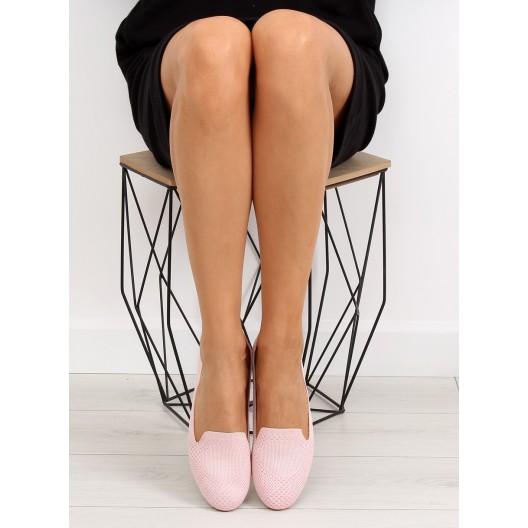 Letné topánky pre dámy v ružovom vyhotovení