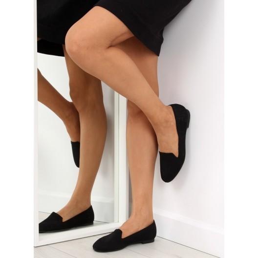 Elegantné balerínky vyhotovené v čiernej farbe