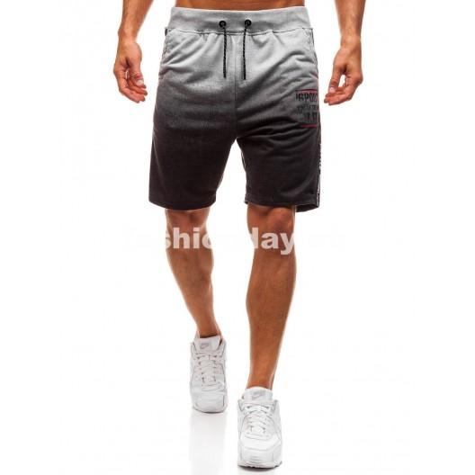 Športové kraťasy sivo bielej farby pre pánov