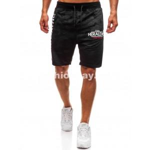 Pánske teplákové krátke nohavice čierne