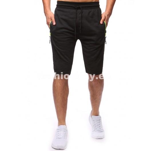 Krátke nohavice pánske v čiernej farbe