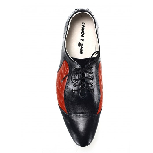 Pánske kožené spoločenské topánky modro-červené ID: 573