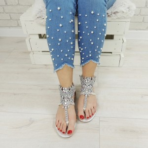 Luxusné dámske sandále s kamienkami