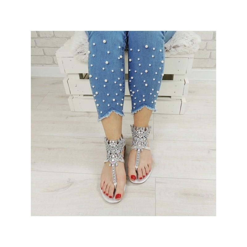 39303c822 Luxusné dámske sandále s kamienkami