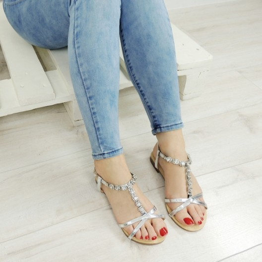 Dámske sandále na leto s kamienkami