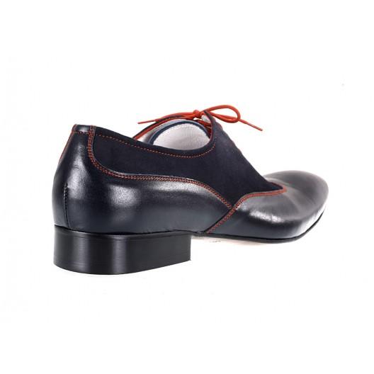 Pánske kožené spoločenské topánky modré ID: 578