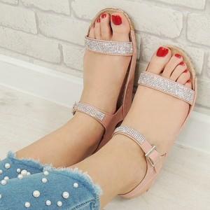 Remienkové sandále ružovej farby
