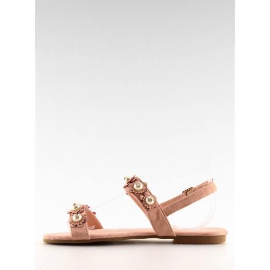 Remienkové sandále v ružovej farbe
