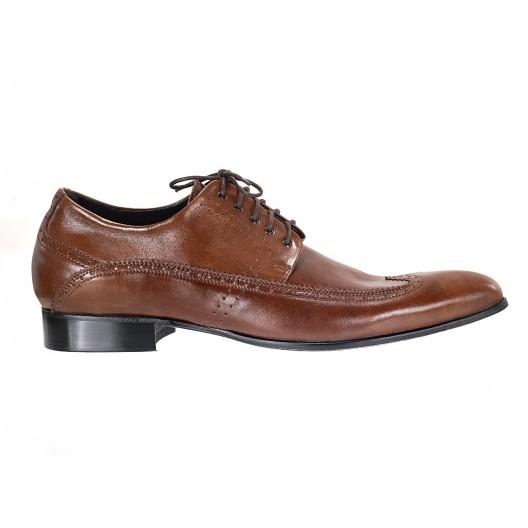 Pánske kožené spoločenské topánky hnedé ID:584