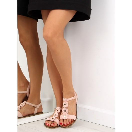Luxusné dámske sandále ružovej farby