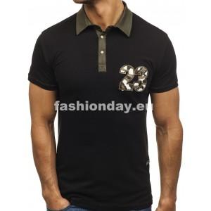 746e6ea38126 Pánske polokošele čierno sivej farby - fashionday.eu