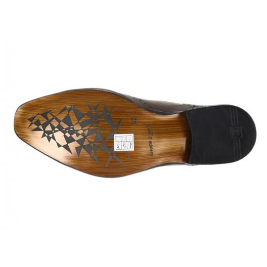 Pánske kožené spoločenské topánky hnedé ID:592