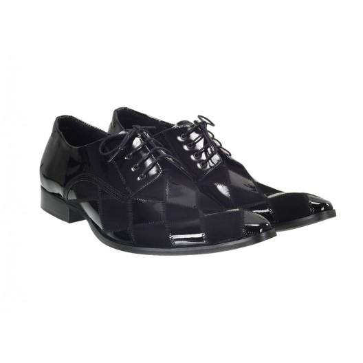 Pánske kožené spoločenské topánky čierne ID:602