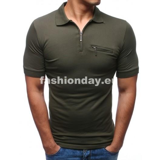 Polo tričká pánske vojenská zelená