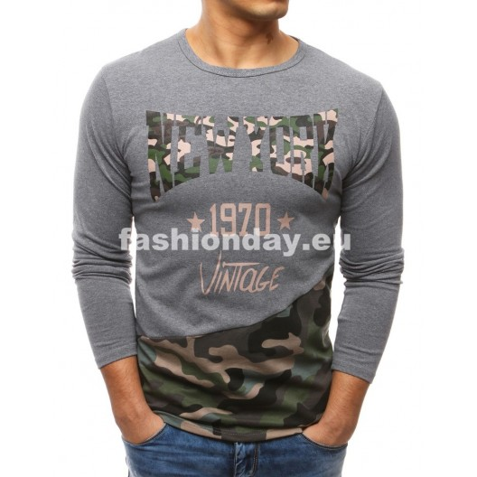 Tričko s dlhým rukávom sivé