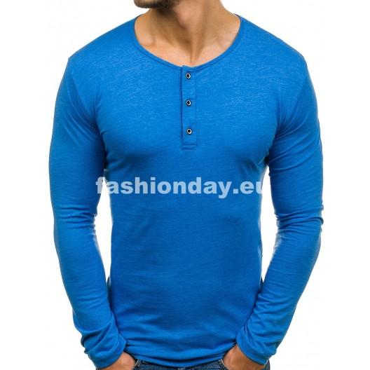 Tričko s dlhým rukávom v modrej farbe