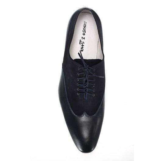 Pánske kožené spoločenské topánky modré ID:604
