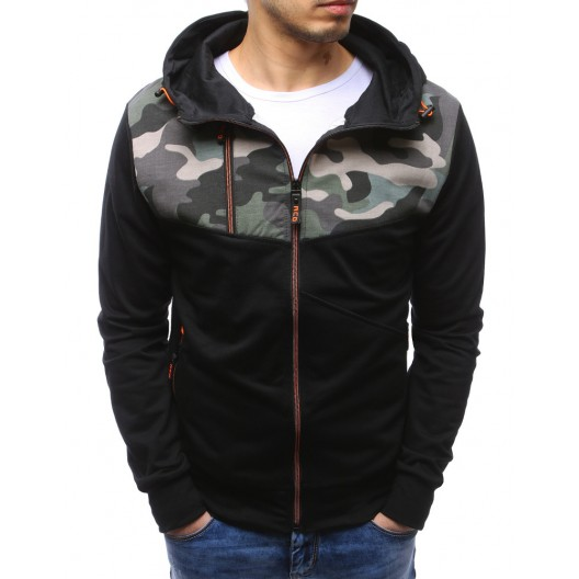 Pánske mikiny na zips v čiernej farbe