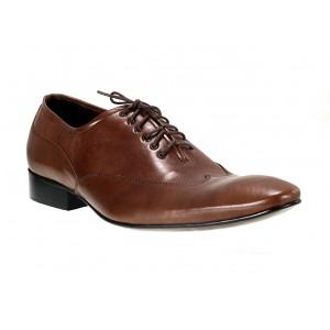 Pánske kožené spoločenské topánky hnedé