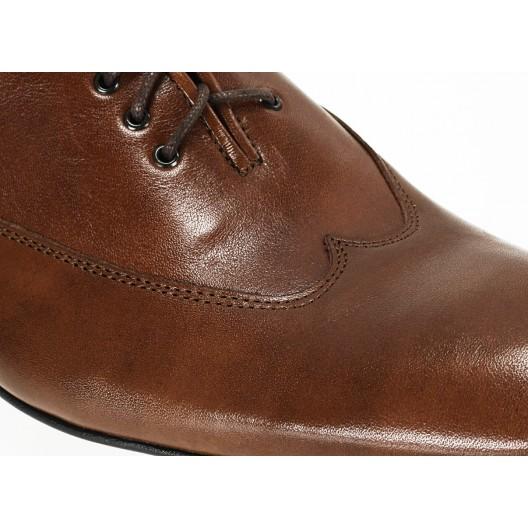 Pánske kožené spoločenské topánky hnedé ID:605