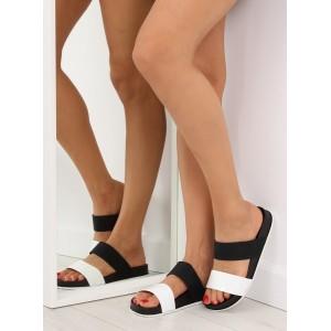 Elegantné dámske šľapky čiernej farby