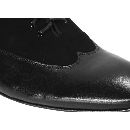 Pánske kožené spoločenské topánky čierne ID:606