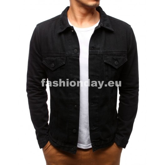 Džínsové bundy v elegantnej čiernej farbe