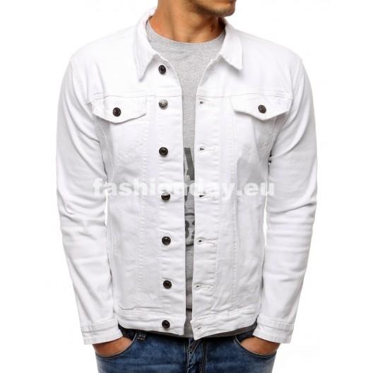 Jeansové bundy v bielej farbe